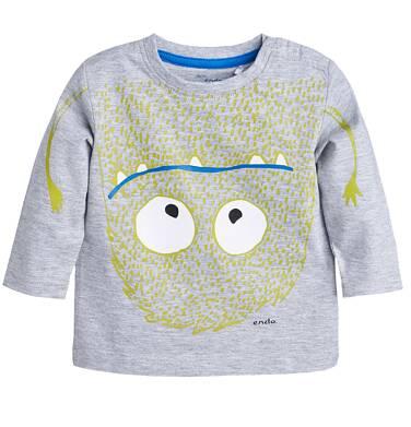 T-shirt z długim rękawem dla dziecka 0-3 lata N81G004_1