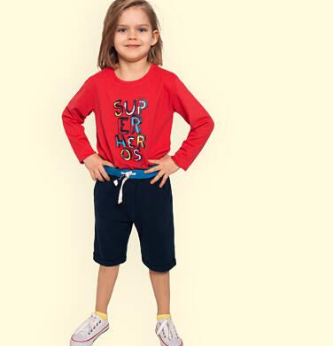 Endo - Krótkie spodenki dresowe dla chłopca, granatowe, 2-8 lat C05K034_1,3