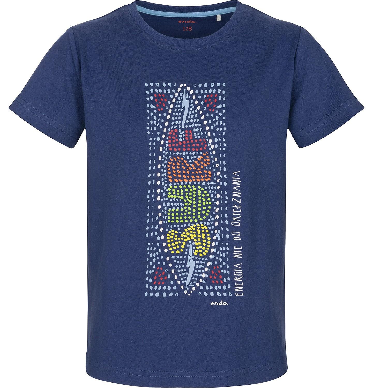 Endo - T-shirt z krótkim rękawem dla chłopca 9-13 lat C91G601_1