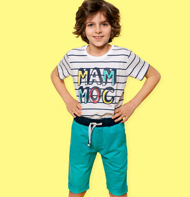 Endo - Krótkie spodenki dresowe dla chłopca, zielone 2-8 lat C05K034_2 28