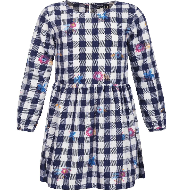 Endo - Sukienka flanelowa z długim rękawem dla dziewczynki 9-13 lat D82H517_1