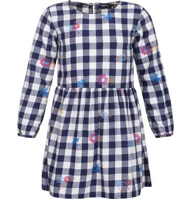 Sukienka flanelowa z długim rękawem dla dziewczynki 9-13 lat D82H517_1