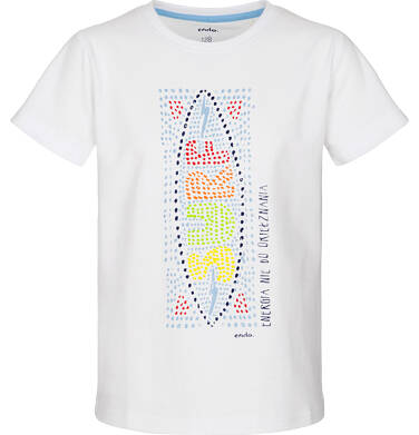 T-shirt z krótkim rękawem dla chłopca 3-8 lat C91G101_2