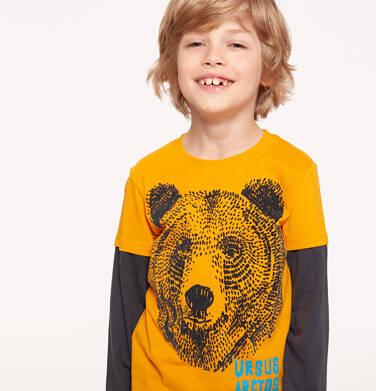 T-shirt z długim rękawem dla chłopca 3-8 lat C92G052_1