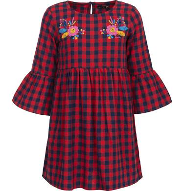 Endo - Sukienka flanelowa z długim rękawem dla dziewczynki 9-13 lat D82H519_1