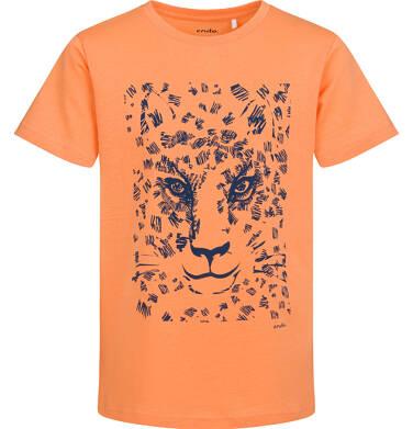 Endo - T-shirt z krótkim rękawem dla chłopca, z lampartem, pomarańczowy, 9-13 lat C05G043_1 16