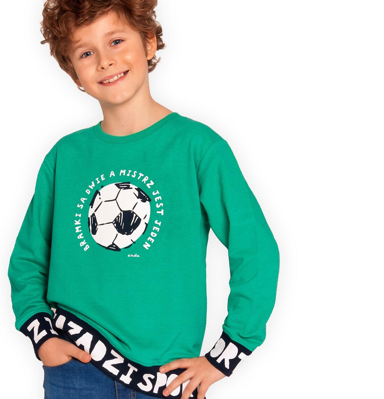 Endo - Bluza dla chłopca, z piłką, sport rządzi, zielona, 2-8 lat C03C003_2