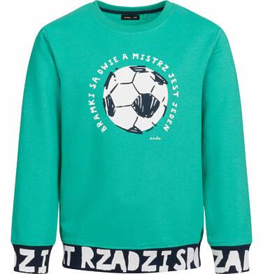 Bluza dla chłopca, bramki są dwie a mistrz jest jeden, zielona, 2-8 lat C03C003_2