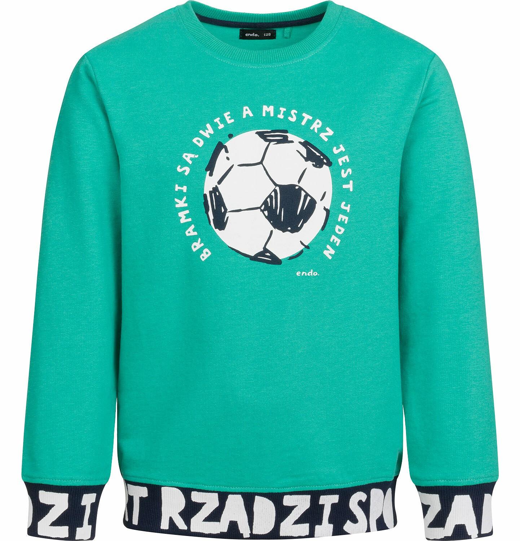 Endo - Bluza dla chłopca, z piłką, sport rządzi, zielona, 9-13 lat C03C503_2