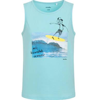 Endo - Koszulka bez rękawów dla chłopca, z surferem, niebieska, 3-8 lat C06G072_1 34