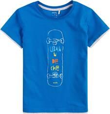 T-shirt z kontrastowym wykończeniem dla chłopca 9-13 lat C71G628_1