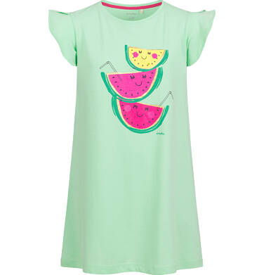 Endo - Sukienka z krótkim rękawem, owocowy motyw, zielona, 9-13 lat D03H544_1 1