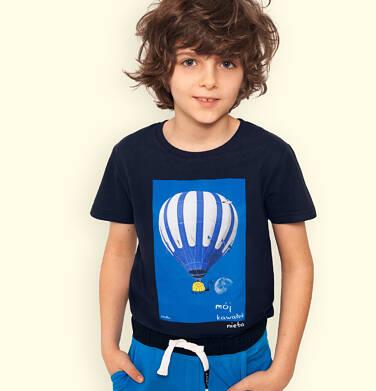 Endo - T-shirt z krótkim rękawem dla chłopca, z balonem, granatowy, 2-8 lat C05G143_1 7