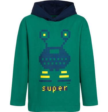 Endo - Bluza dla chłopca, kosmiczny motyw, zielona, 9-13 lat C04C040_1,1