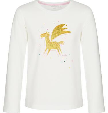 Endo - Bluzka z długim rękawem dla dziewczynki, z kosmicznym jednorożcem, złamana biel, 9-13 lat D92G576_1 168