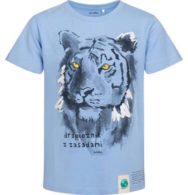 Endo - T-shirt z krótkim rękawem dla chłopca, z tygrysem, niebieski, 9-13 lat C05G172_1 14