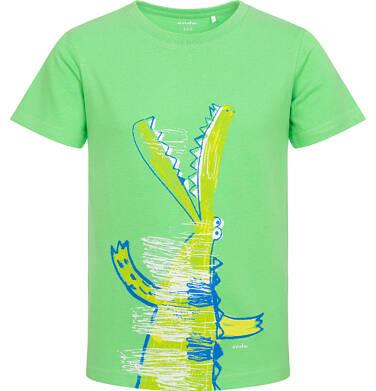 Endo - T-shirt z krótkim rękawem dla chłopca, z krokodylem, zielony, 2-8 lat C06G118_1 11