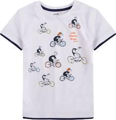 T-shirt z kontrastowym wykończeniem dla chłopca 9-13 lat C71G634_1