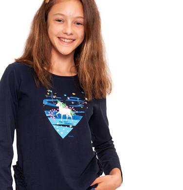 Endo - Bluzka z długim rękawem dla dziewczynki 9-13 lat D92G577_1