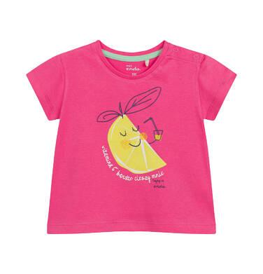 Endo - Bluzka dla dziecka do 2 lat, z cytryną, różowa N03G035_1 14