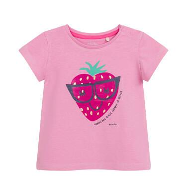 Endo - Bluzka dla dziecka do 2 lat, z truskawką, różowa N03G036_1 13