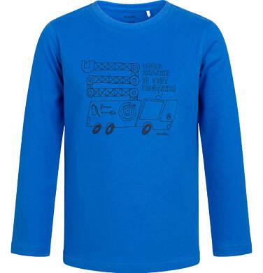 Endo - T-shirt z długim rękawem dla chłopca, z samochodem, niebieski, 2-8 lat C04G185_1 26
