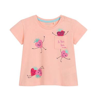 Endo - Bluzka dla dziecka do 2 lat, w truskawki, pomarńczowa N03G037_1 31