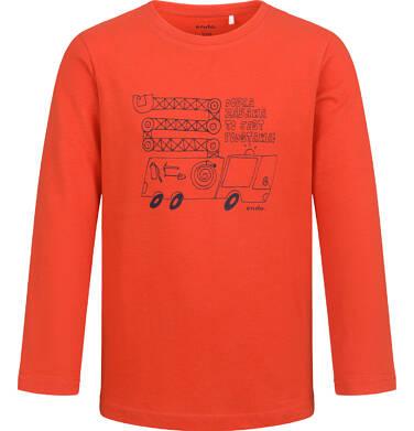 Endo - T-shirt z długim rękawem dla chłopca, z samochodem, czerwony, 2-8 lat C04G185_2 36