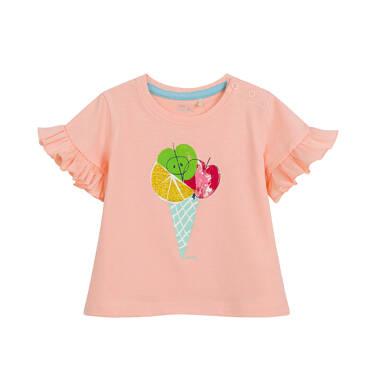 Endo - Bluzka dla dziecka do 2 lat, z owocami, pomarańczowa N03G038_1 10