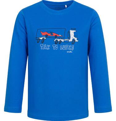 T-shirt z długim rękawem dla chłopca, z samochodem, niebieski, 2-8 lat C04G189_1