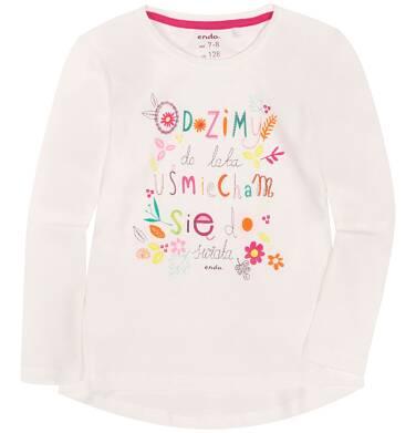 Endo - Bluzka z długim rękawem  dla dziewczynki 9-13 lat D72G608_1