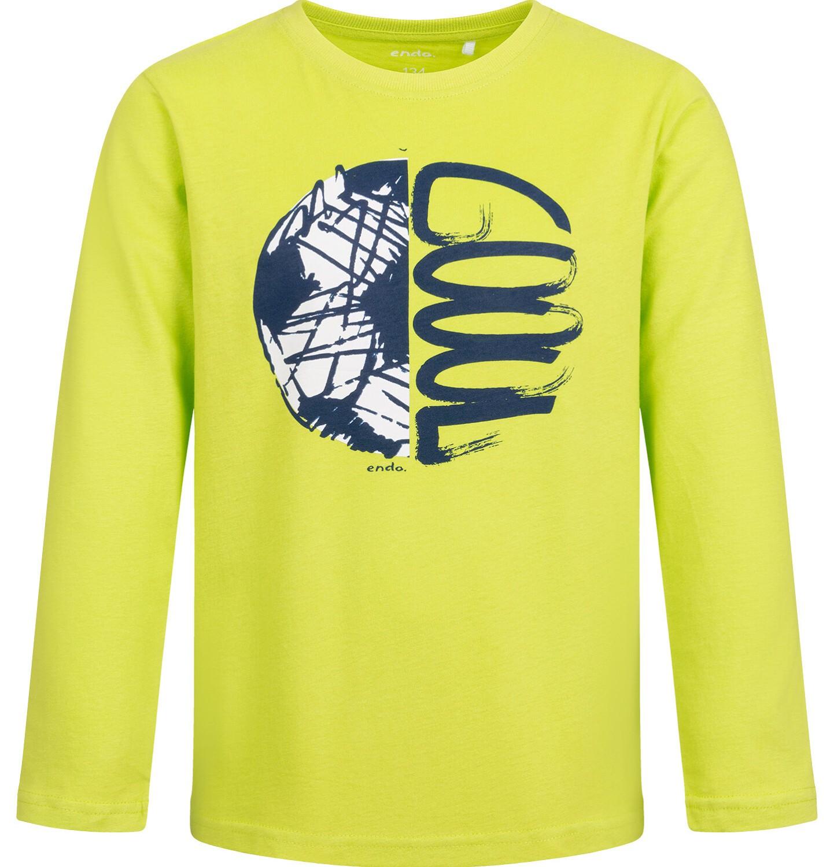 Endo - T-shirt z długim rękawem dla chłopca, limonkowy, 9-13 lat C04G002_1