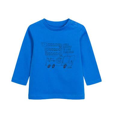 Endo - T-shirt z długim rękawem dla dziecka do 2 lat, z samochodem, niebieski N04G040_1 23