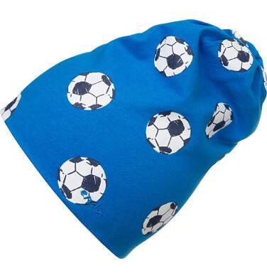 Czapka wiosenna dla dziecka, niebieska w piłki C05R016_1