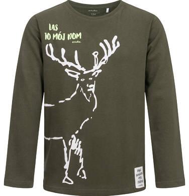 Endo - T-shirt z długim rękawem dla chłopca, z jeleniem, 9-13 lat C04G065_1 22