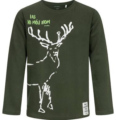 Endo - T-shirt z długim rękawem dla chłopca, z jeleniem, 9-13 lat C04G065_1 16