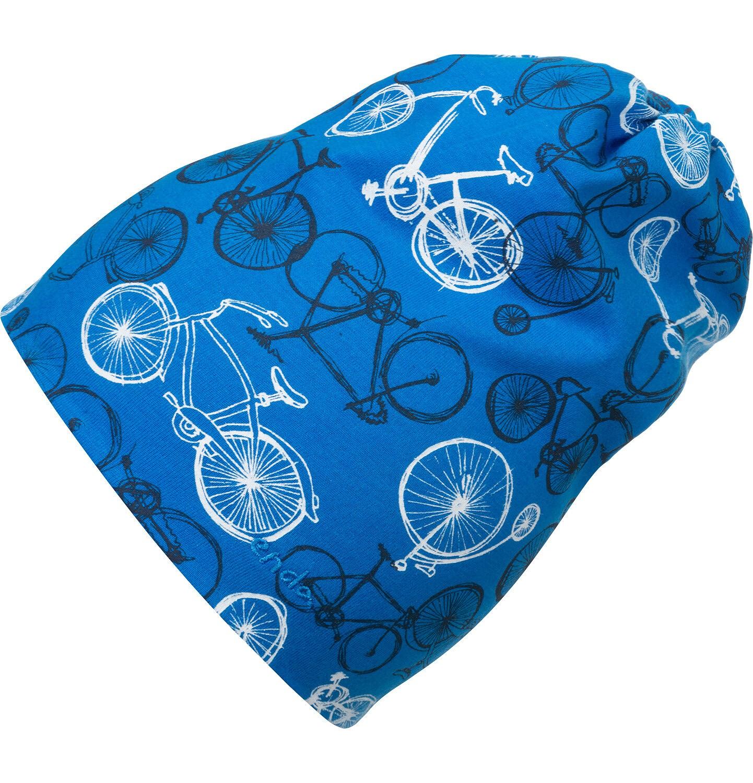 Endo - Czapka wiosenna dla dziecka, niebieska w rowery C05R017_1
