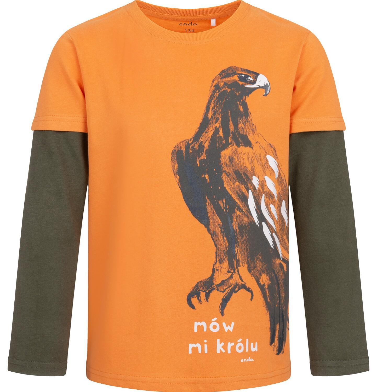 Endo - T-shirt z długim rękawem dla chłopca, z orłem, 9-13 lat C04G087_1