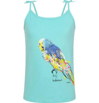 Endo - Top na ramiączkach, z kolorową papugą, niebieski, 3-8 lat D06G039_1 12