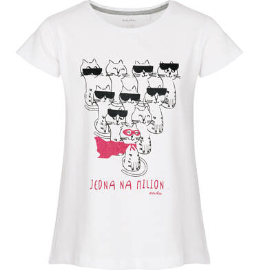 Endo - T-shirt z krótkim rękawem dla dziewczynki 3-8 lat D91G066_2