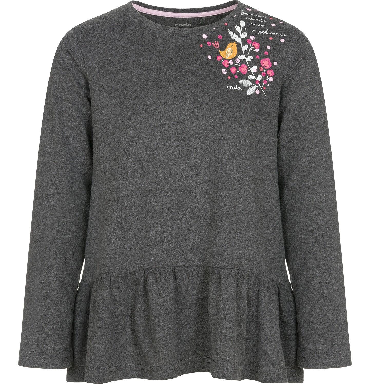 Endo - Bluzka z długim rękawem dla dziewczynki 9-13 lat D92G611_1
