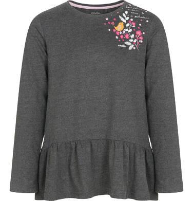 Endo - Bluzka z długim rękawem dla dziewczynki 9-13 lat D92G611_1 271