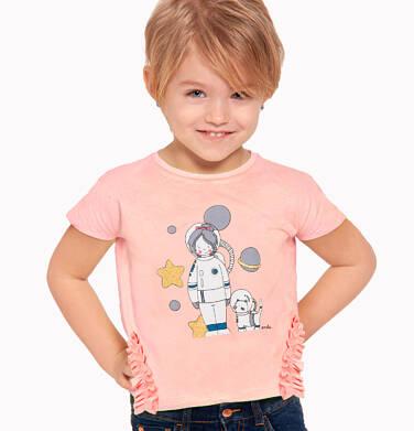 Endo - Bluzka z krótkim rękawem dla dziewczynki, z kosmonautą, pomarańczowa, 2-8 lat D03G127_1 2