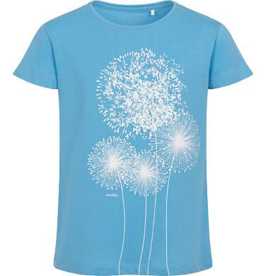 Endo - T-shirt z krótkim rękawem dla dziewczynki, w dmuchawce, niebieski, 9-13 lat D06G048_2 19