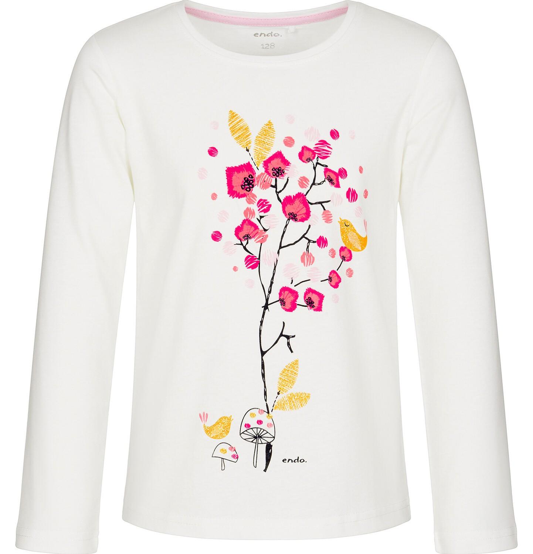 Endo - Bluzka z długim rękawem dla dziewczynki 9-13 lat D92G614_1