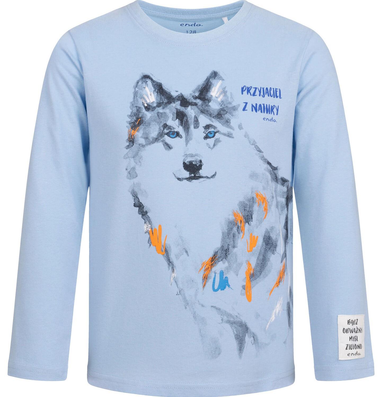 Endo - T-shirt z długim rękawem dla chlopca, z wilkiem, 2-8 lat C04G105_1