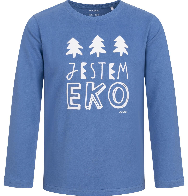 Endo - T-shirt z długim rękawem dla chłopca, niebieski, 2-8 lat C04G107_1