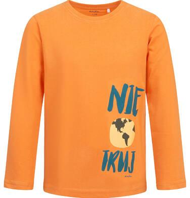 Endo - T-shirt z długim rękawem dla chłopca, pomarańczowy, 2-8 lat C04G113_1 6