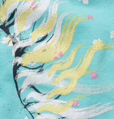 Endo - T-shirt z krótkim rękawem dla dziewczynki, z koniem, niebieski, 9-13 lat D05G001_2,2
