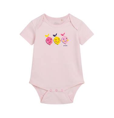 Endo - Body z krótkim rękawem dla dziecka do 2 lat, z cytryną, rożowe N03M019_1 1